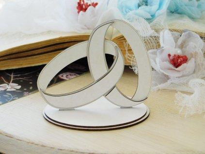 Kreatywna Pracownia - 151 / SM1635 / svatební prstýnky - kartonové ozdoby