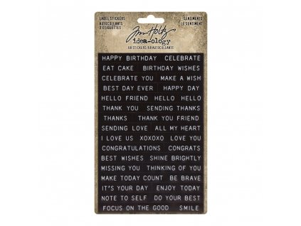 idea ology tim holtz label stickers sentiments th9
