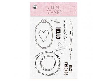 zestaw stempli stitched with love 01 a6 10szt