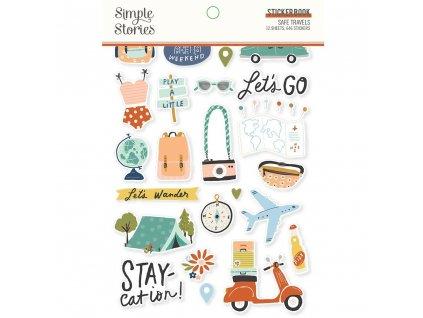 simple stories safe travels sticker book 14818