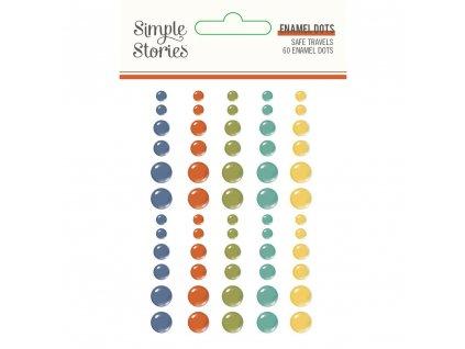 simple stories safe travels enamel dots 14823
