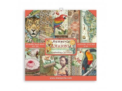 stamperia amazonia 12x12 inch paper pack sbbl83