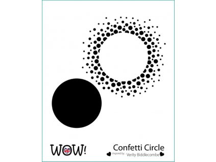 wow stencil confetti circle by verity biddlecombe 4910 p