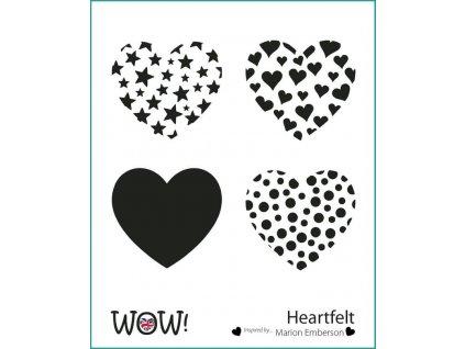 wow stencil heartfelt by marion emberson 4912 p