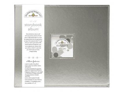 doodlebug design silver 12x12 inch storybook album
