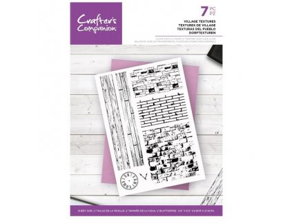 crafters companion village textures clear stamps c