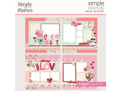 simple stories simple pages kit all my love 14327