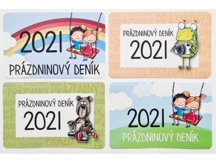 HuráPapír - PRÁZDNINOVÝ DENÍK 2021 - samolepka, 1ks