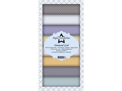 paper favourites diamond grid slim paper pack pfs0