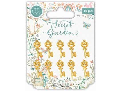 craft consortium secret garden metal key charms cc