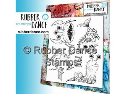 Rubber  Dance - A5 / CRAZY MONSTERS  - cling gumové razítko bez pěny