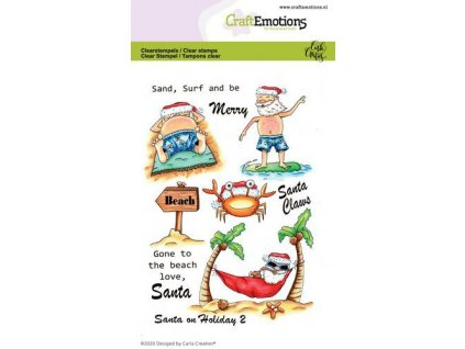 craftemotions clearstamps a6 santa on holiday 2 carla creaties 317598 en G