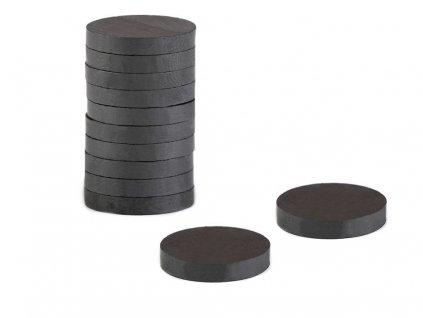 Feritové magnety Ø25 mm; 15 ks