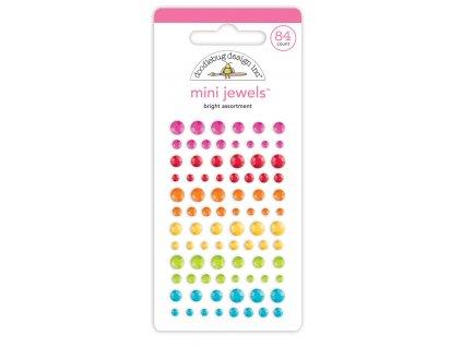 doodlebug design bright assortment mini jewels 725
