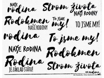 Hurá Papír - NAŠE RODINA / RODOKMEN / A5 - neprůhledné české samolepky
