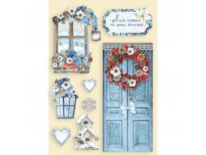 stamperia colored wooden shapes a5 winter tales do