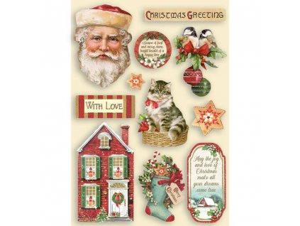 stamperia colored wooden shapes a5 classic christm