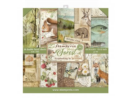 stamperia forest 12x12 inch paper pack sbbl63