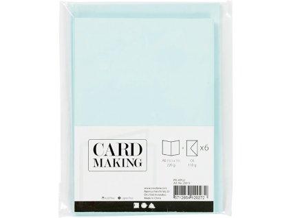 Korttipohjat ja kirjekuoret vaaleansininen