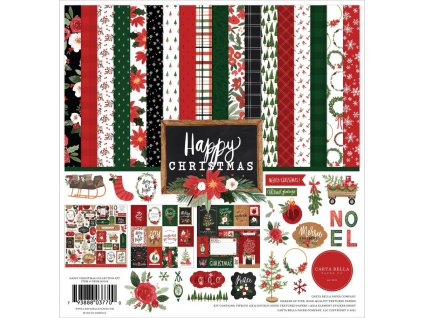 "Carta Bella - HAPPY CHRISTMAS - kompletní 12""  scrapbooková sada"