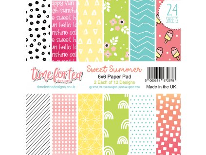 time for tea sweet summer 6x6 inch paper pack t4t