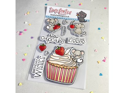 time for tea hello cupcake clear stamps t4t 723 he