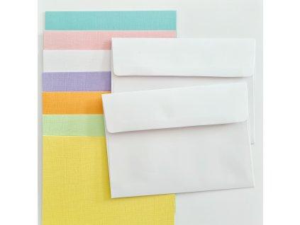 Core´dinations - sada obálek a přání A2 - 7 odstínů barev - 35 ks
