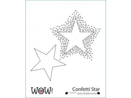 wow stencil confetti star by verity biddlecombe 5551 p