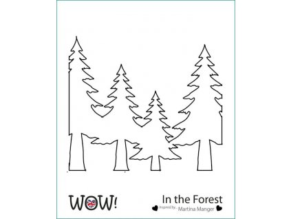 wow stencil in the forest by martina manger 5569 p