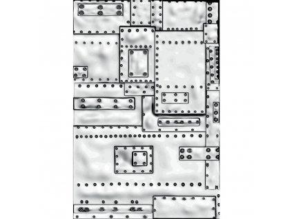 Sizzix - mini záplaty / 665634 - 3D embosovací kapsa