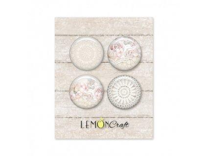 linen story zestaw samoprzylepnych ozdob buttonow lemoncraft