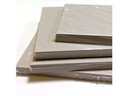 Šedá knihařská lepenka / kartony / 1,5 mm - 9 ks / 20,5 x 20 cm ... vhodné na desky alba