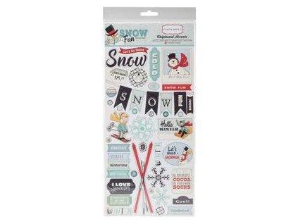 Carta Bella  - SNOW FUN - kartonové samolepky