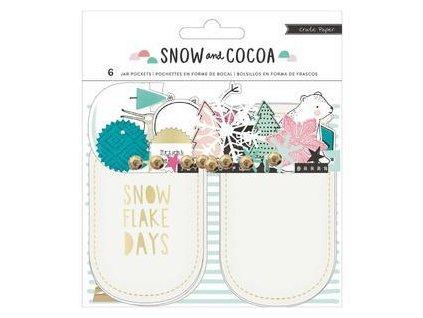 Crate Paper - SNOW&COCOA - papírové výseky, motivy