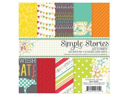 "Simple Stories - LET´S PARTY - 6"" kompletní scrapbooková sada"