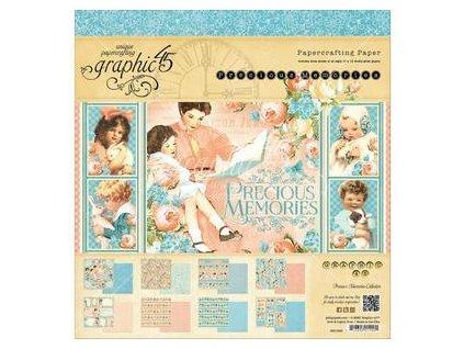 "Graphic45 - PRECIOUS MEMORIES COLL. - 12"" sada scrapbookových čtvrtek - 12 ks"