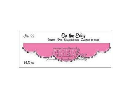 Crealies - 22 / ON THE EDGE / bordura - vyřezávací šablony pro Big Shot