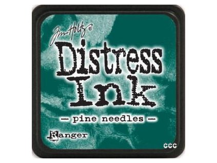 mini distress ink pine needles