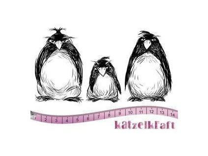 les pingouins grumpy format a6 tampon scrapbooking