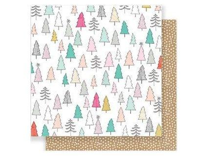 "Crate Paper - SNOW&COCOA - 12"" scrapbooková čtvrtka"