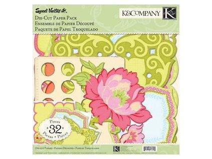 K&Company - SWEET NECTAR / DIE CUT PAPER PACK - výseky - 32 ks