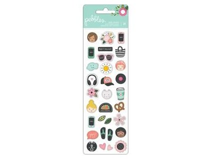 Pebbles - PUFFY STICKERS / GIRL SQUAD - samolepky