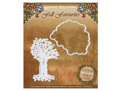 Yvonne Creations - Fall Favourites - Seasonal Tree - vyřezávací šablona pro Big Shot