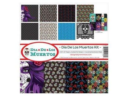 "Reminisce - DIA DE LOS MUERTOS KIT - 12"" kompletní scrapbooková sada"