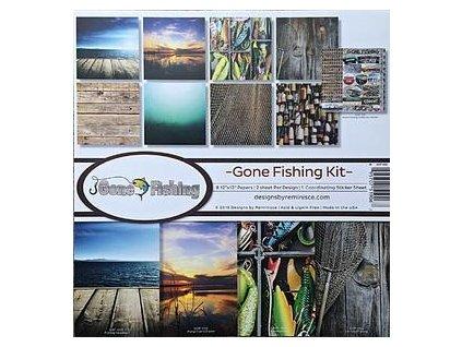 """Reminisce - GONE FISHING KIT - 12"""" kompletní scrapbooková sada"""