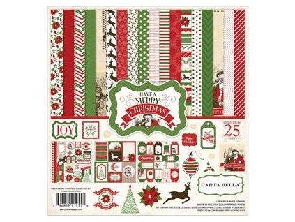 "Carta Bella - HAVE A MERRY CHRISTMAS - 12"" kompletní scrapbooková sada"