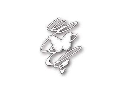 Memory Box - 99679 / WHIRLING BUTTERFLY SILHOUETTE - vyřezávací kovové šablony