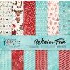 """Laserowe LOVE - WINTER FUN- 12"""" zimní scrapbooková sada (Vánoce)"""