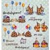 Hurá Papír - výřezy A4 / OSLAVA / GRATULUJEME 2020 - papírové obrázky