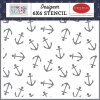 carta bella anchor 6x6 inch stencil cbbs120035